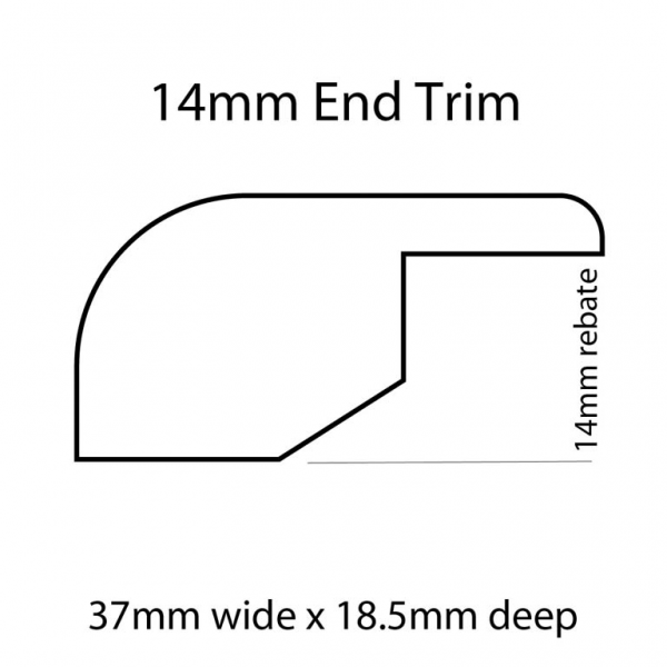 14mm End Trim Line Drawing