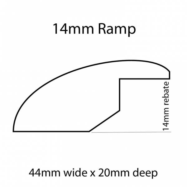 14mm Ramp Line Drawing