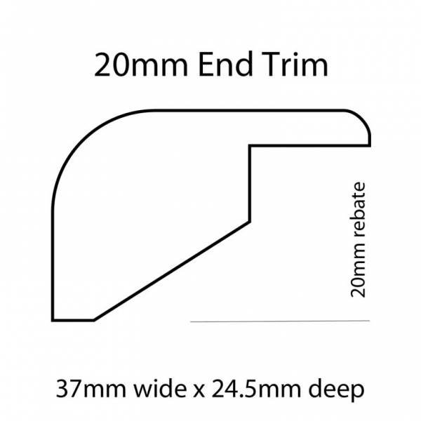20mm End Trim Line Drawing