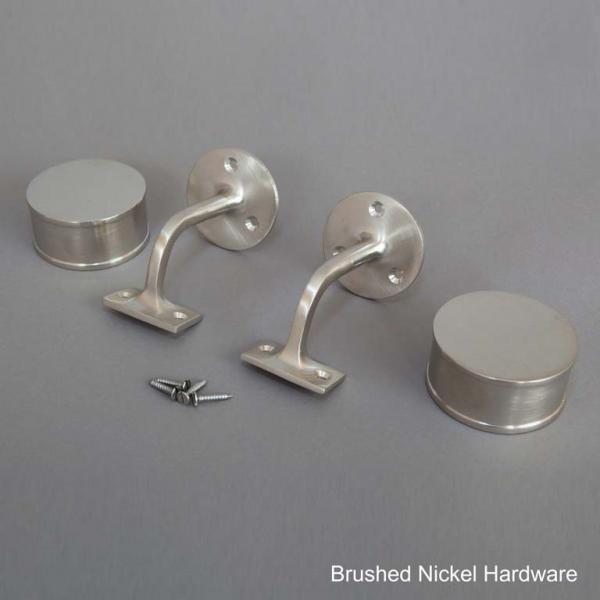 Brushed Nickel Round Handrail Hardware Web
