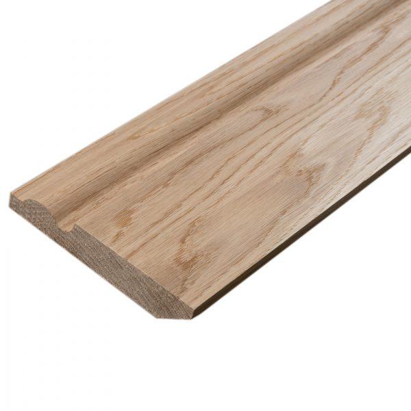 Solid Oak Chamfer Torus 142 Skirting