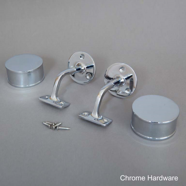 Chrome Round Handrail Hardware Web