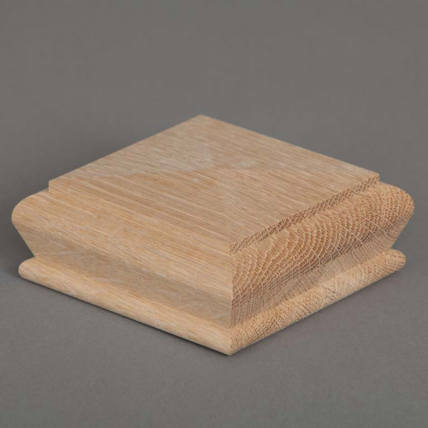 Oak Full Pyramid Newel Cap Three Quarter Shot Web