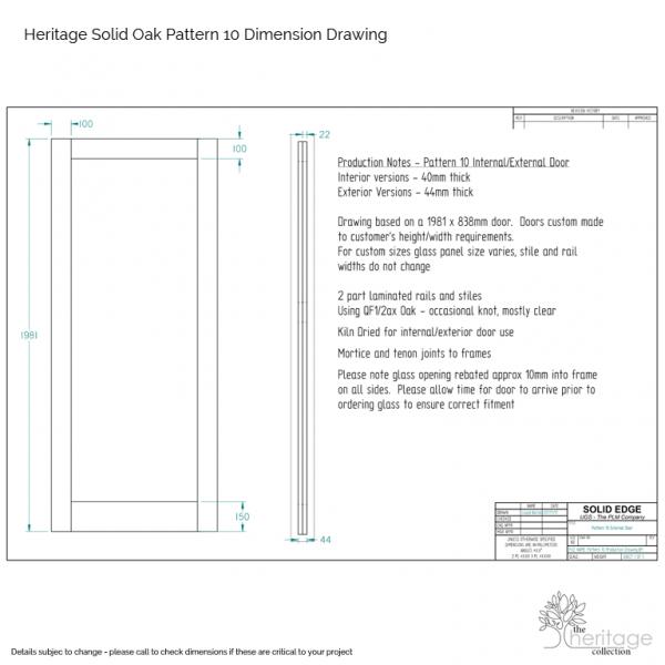 Pattern 10 Door Website Drawing