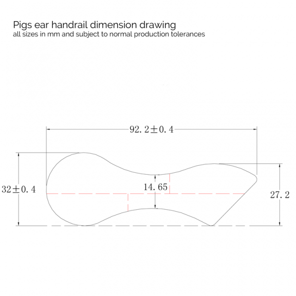 Pigs Ear Dimension Drawing