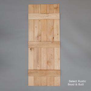Select Rustic Bead & Butt Ledged Door Rear Web