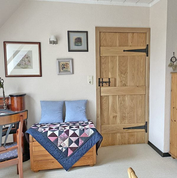V Groove Rustic Oak Ledged Door