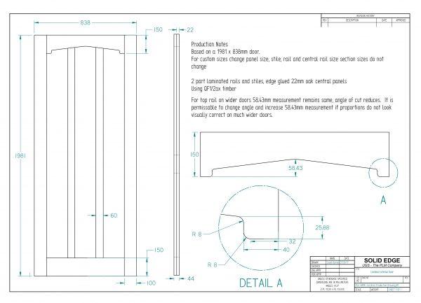 Cardinal Exterior Door Dimension Drawing
