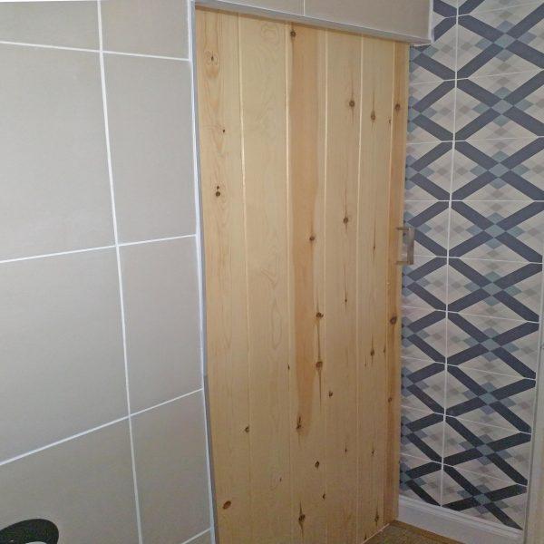 Pine ledged door