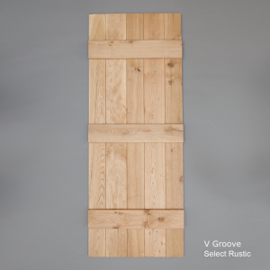 Select Rustic V Grooved Ledged Door Rear Web