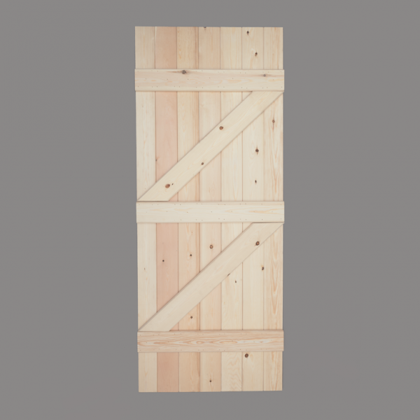 V Groove Pine Ledged & Braced Door Rear Web