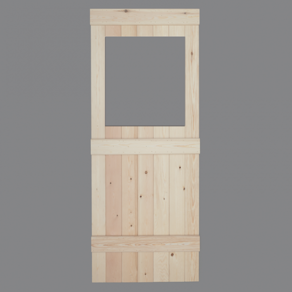 V Groove Pine Ledged Door Rear Glass Opening Web