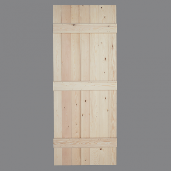 V Groove Pine Ledged Door Rear Web