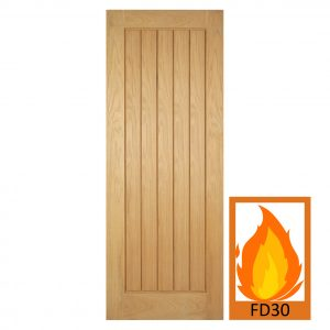 Oak Mexicano FD30 fire door
