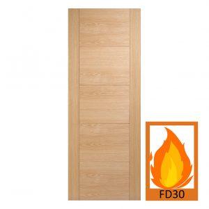 FD30 Oak Engineered Vancouver Fire Door