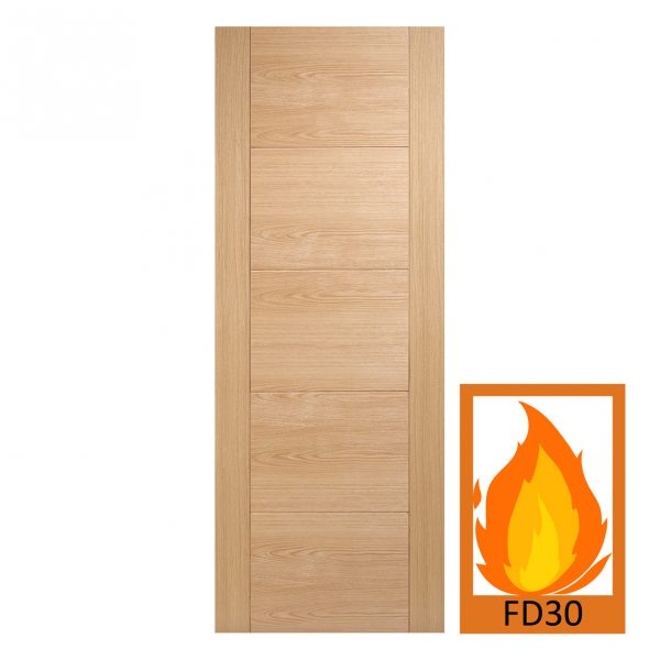 FD30 Oak Engineered Vancouver Fire Door