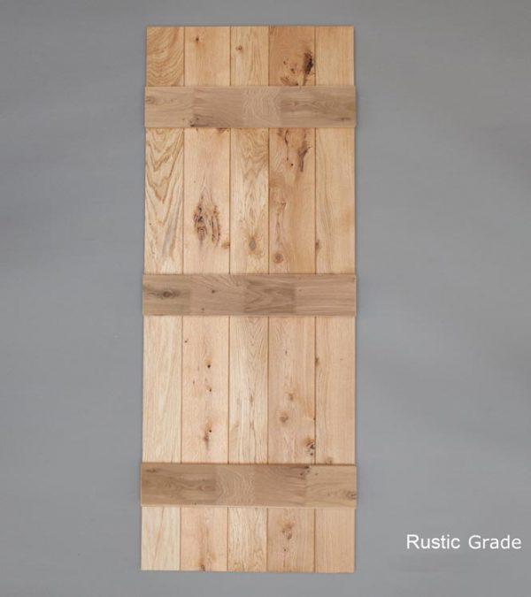 Solid Oak Finger Joined Ledged Door