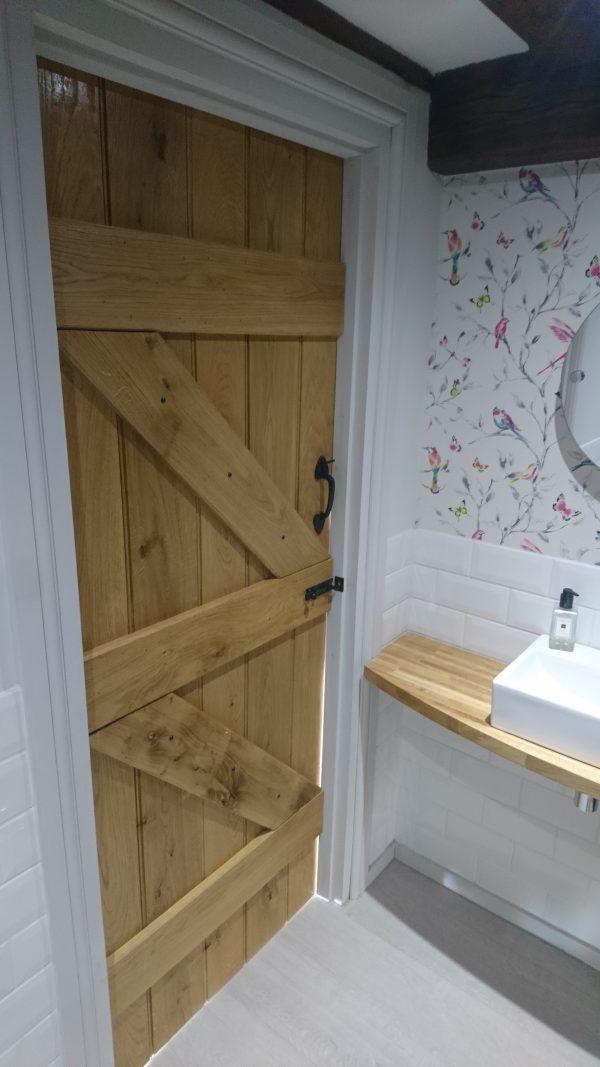 Oak braced internal door
