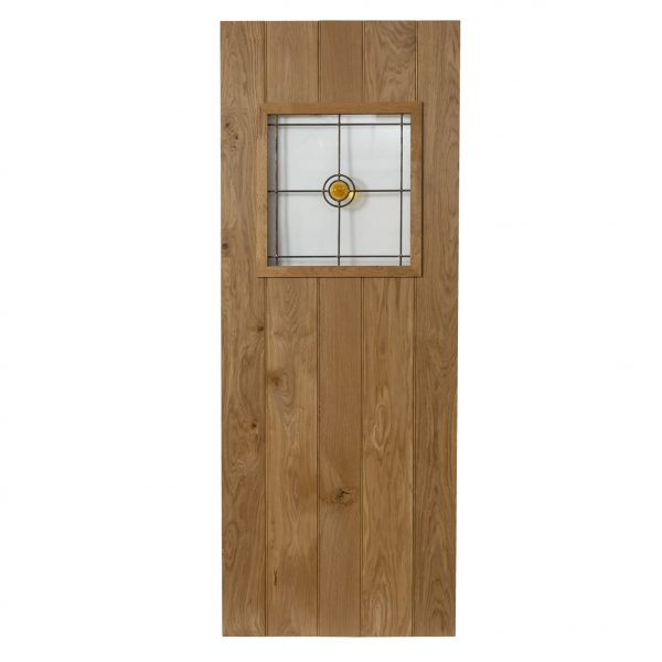 Glazed Ledged Oak Door