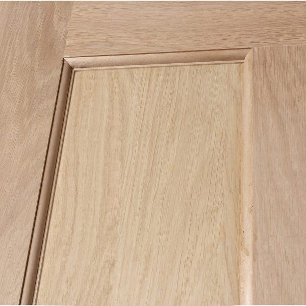 4 Panel Shaker Oak Engineered Custom Sized Door Detail