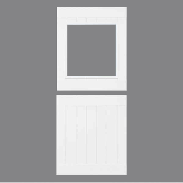 White-Stable- Unglazed - Gray Background